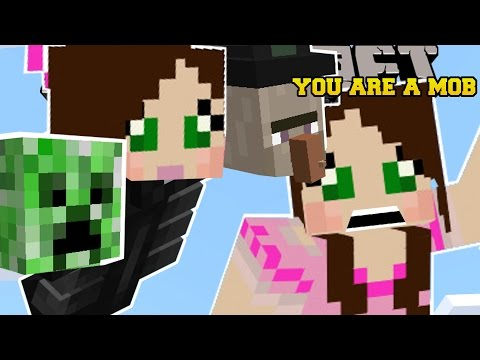 Minecraft: YOU ARE A MOB (MORPH INTO MOBS & GET ABILITIES!) Mod Showcase