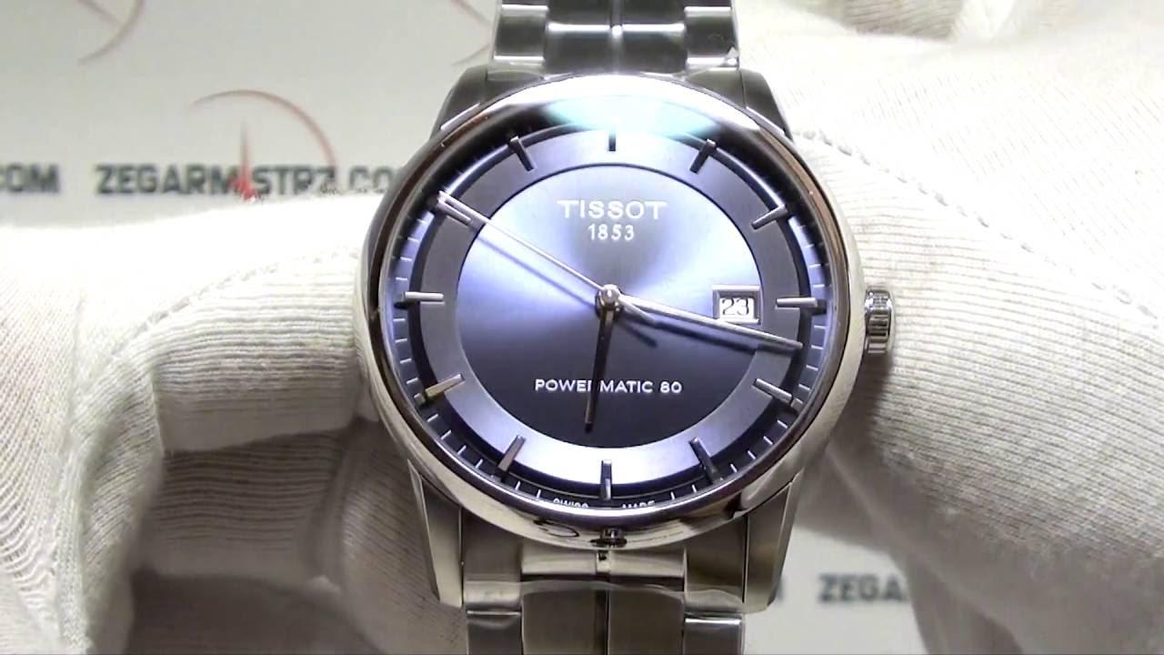 1e08a43e07b6 Tissot Luxury Automatic T086.407.11.041.00 www.zegarmistrz.com - YouTube