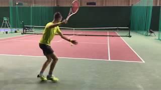 Теннис. Владимир Волчков. Тренировка на технику с подводящими упражнениями.