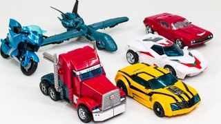 Transformers Prime Optimus Prime Bumblebee Wheeljack CliffJumper Arcee Vehicle Robot Car Toys