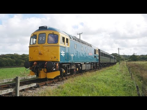 Isle of Wight Preserved Railway 2017 Diesel Gala Compilation Class 33 33202 D2059 D2554