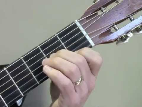 """Renaissance Faire"" partial chord etude - left hand closeup"
