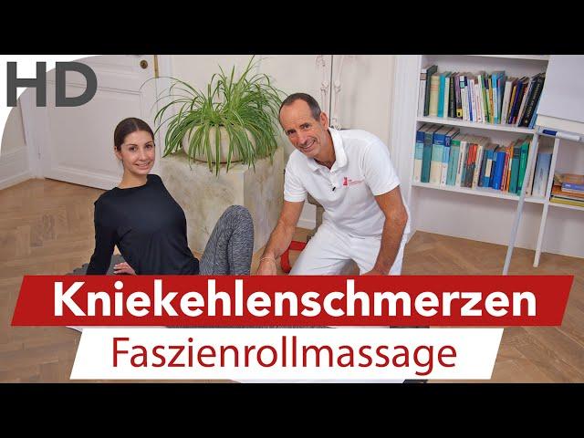 Knieschmerzen // Schmerzen in der Kniekehle, Knieübungen Faszienrolle, Faszientraining, Faszien