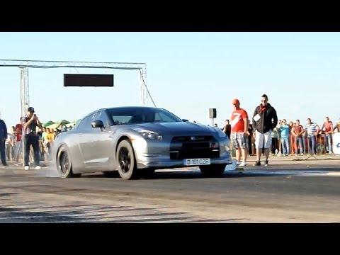 Nissan Gtr R35 1600 Hp Drag Racing Romania Youtube
