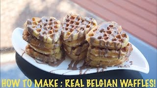 How To Make : Real Belgian Waffles!