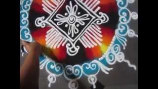 how to draw sanskar bharati simple rangoli