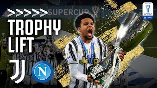 🏆 🍾 TROPHY LIFT & DRESSING ROOM CELEBRATIONS | Juventus 2-0 Napoli | Supercoppa Italiana