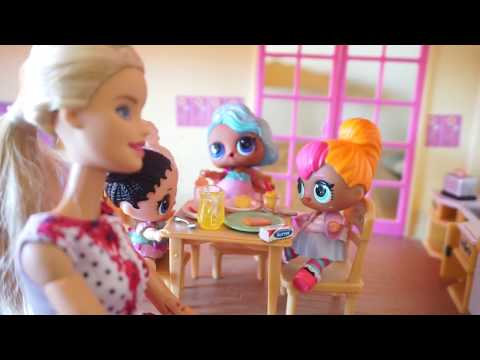 Thumbnail: LOL SURPRISE DOLLS Morning Routine BARBIE Makes Breakfast For LOL SURPRISE DOLLS