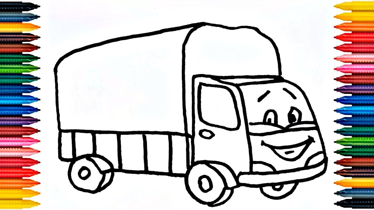Drawing Truck How to Draw Truck Coloring Book Fun Painting ...