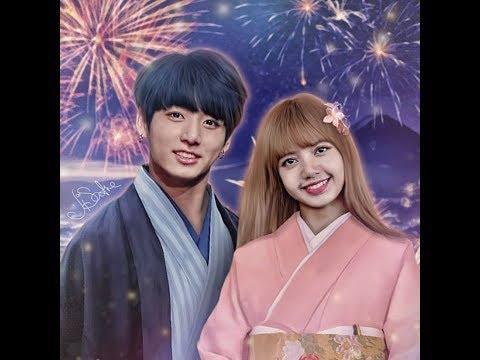 BTS Jungkook And Blackpink Lisa [lizkook] Fanart