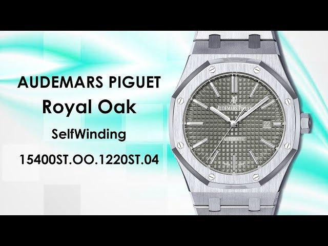 Audemars Piguet Royal Oak SelfWinding with Grey Dial 41mm Stainless Steel Watch 15400ST.OO.1220ST.04