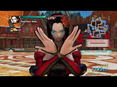 ONE PIECE Nico Robin's ball busting nut grab