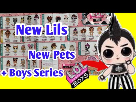 NEW LOL Surprise BOY Series | LOL Surprise Lils Wave 2 FULL Reveal | New Lil's, Pets, and Boys!