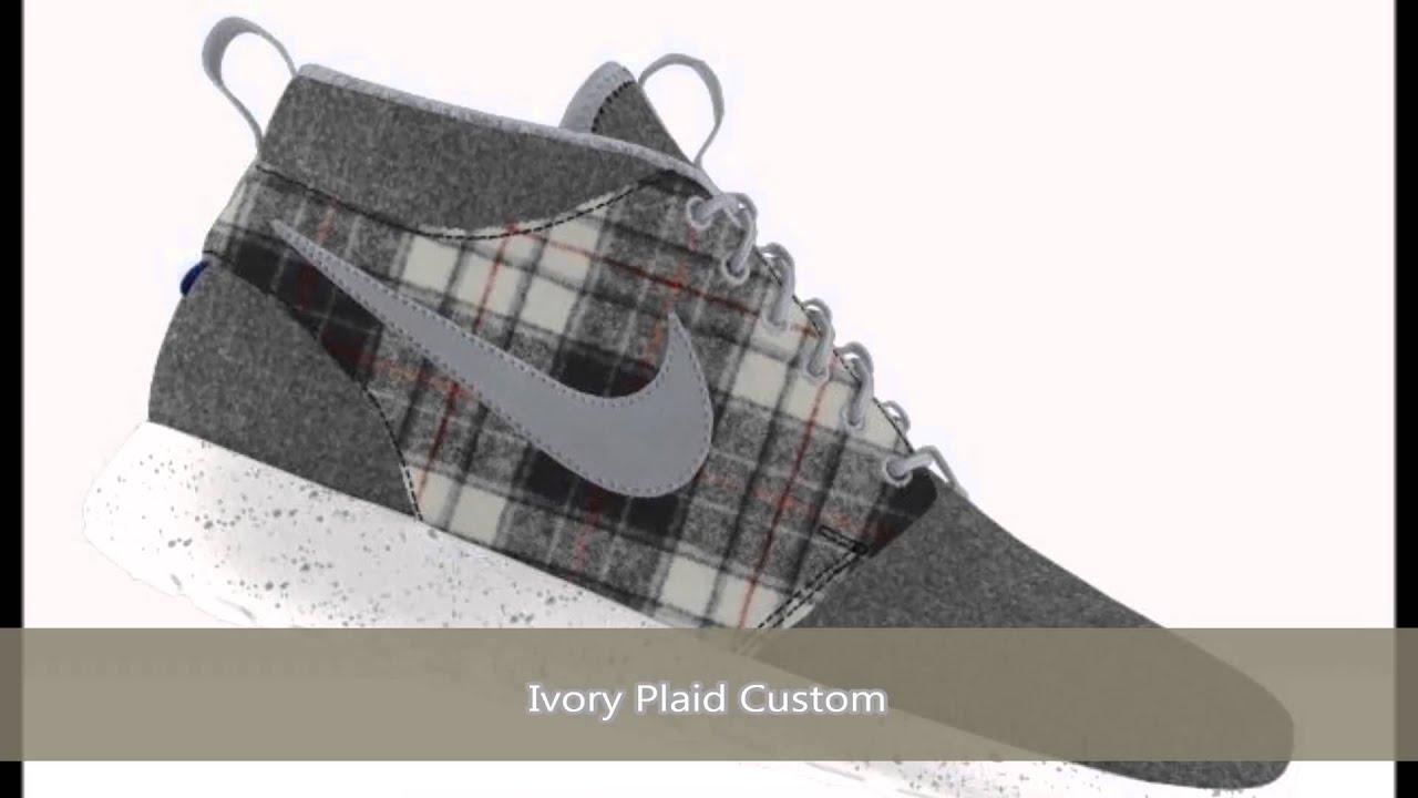 vans en france - Custom Shoes - Nike Roshe Run Mid Premium Pendleton iD - YouTube