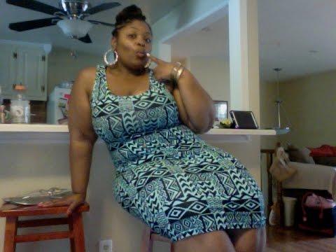 plus size ootd - green tribal print dress - youtube