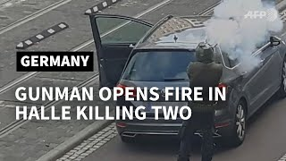 Man opens fire on street in Halle, Germany | AFP