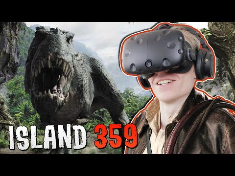 DINOSAUR SHOOTER GAME IN VIRTUAL REALITY! | Island 359 VR (H