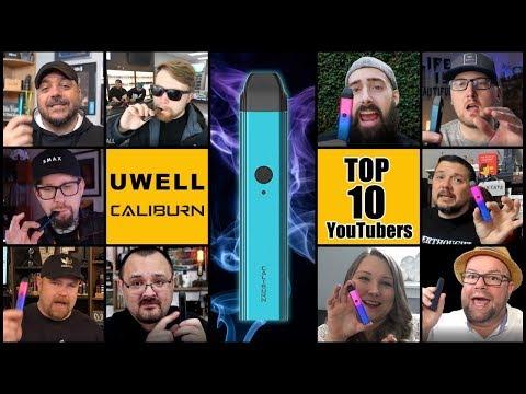 UWELL Caliburn ⚔️Top 10 Vape YouTubers Review - Best Pod System