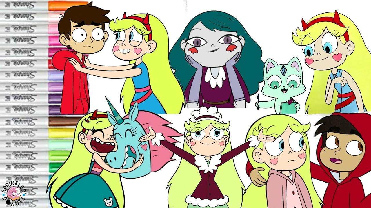 Star Vs The Forces Of Evil Coloring Book Pge Compilation Butterfly Marco Pony Head SVTFOE