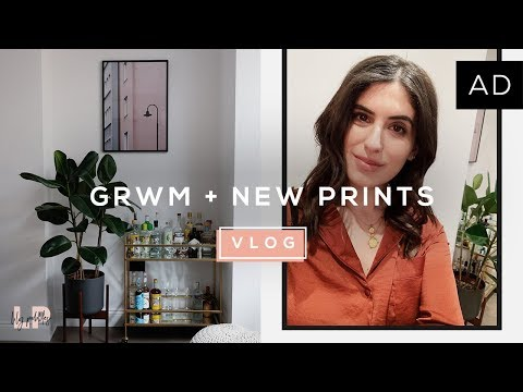 GRWM + NEW PRINTS FOR OUR HOME | Lily Pebbles