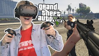 GTA WITH VIVE CONTROLLERS!  | GTA 5: VR Mod (HTC Vive Gameplay)