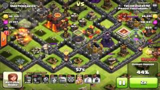 Clash of Clans - Epic TH9 Trap Base + Golem Clutch Raid