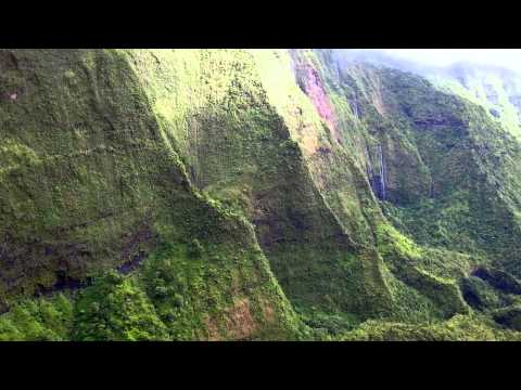 Na Pali Coast, Waimea Canyon - Flying Over Kauai in a Helicopter With No Doors.