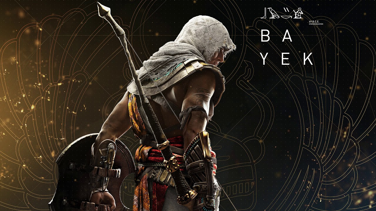 Hieroglyphs Assassins Creed Origins Hd Games 4k: Assassin's Creed Origins Bayek 4K Wallpaper Engine
