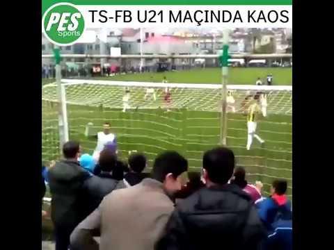 Trabzonspor - Fenerbahçe u21 maçında kavga çıktı Futbolcular birbirine girdi