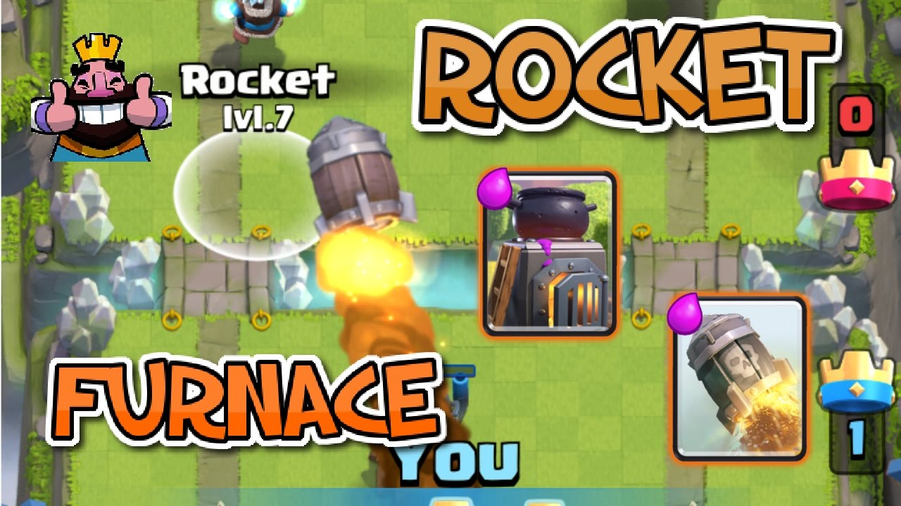GEWELDIG ROCKET FURNACE DECK! - Clash Royale [Nederlands ...