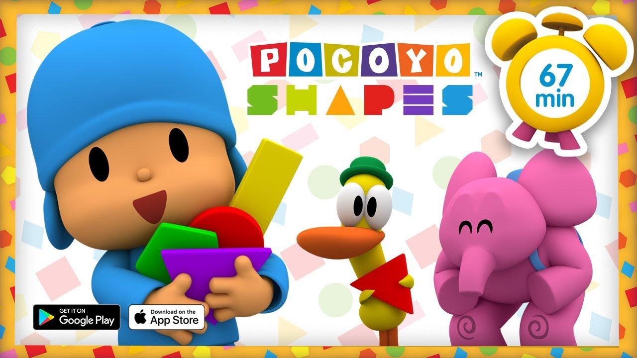 🔵 POCOYO ITALIANO- Pocoyo Shapes: Forme Geometriche [67 min] | VIDEO e CARTONI ANIMATI per bambini