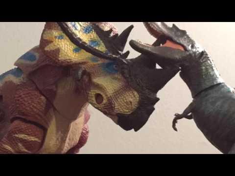 Gorgosaurus vs pachyrhinosaurus stop motion