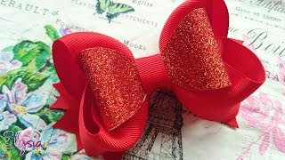 Boutique Ribbon Bow For Christmas Eve Tutorial DIY by Elysia Handma...