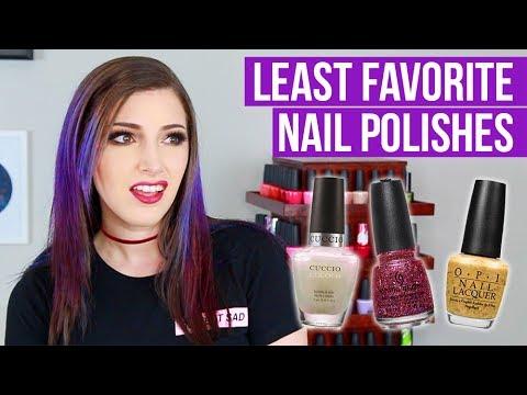 My LEAST FAVORITE Nail Polishes?! || KELLI MARISSA
