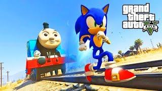 Sonic the Hedgehog vs Thomas the Tank Engine! (GTA 5 Mods)