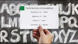 Aprende Esperanto: Terminación de las palabras # 3