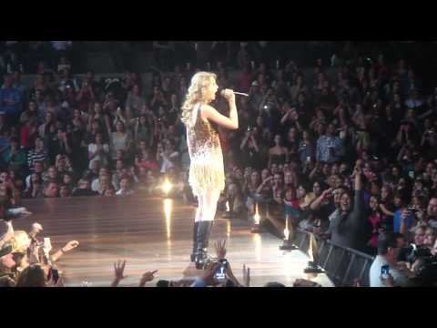 Taylor Swift opening with Sparks Fly in San Antonio, Texas
