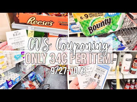 COME COUPON WITH ME AT CVS! 🔥 ONLY 34¢ PER ITEM!! / WEEK OF 9/27-10/3