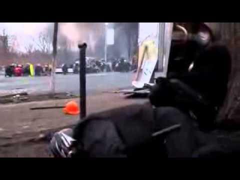 Maidan Sniper Kills Kiev Ukraine