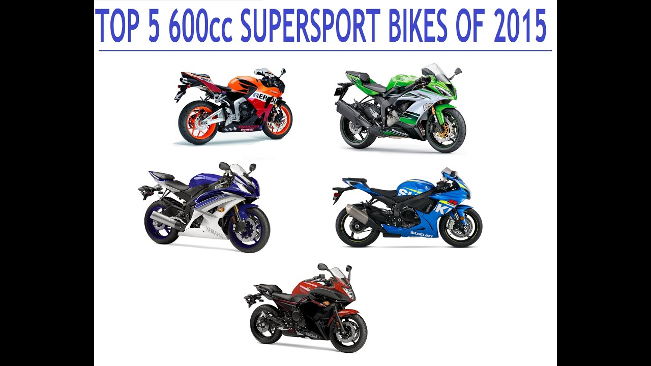 Top 5 600cc Supersport Bikes Of 2015 Youtube