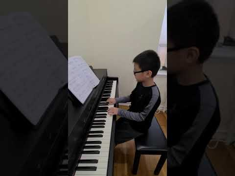 """""""Ceremony for peace""""/Jaden Tjan 9 years old/Adventures piano book 4/NYC😉😉"""