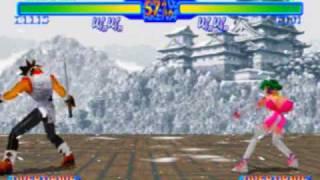 Battle Arena Toshinden URA Game Sample - Sega Saturn