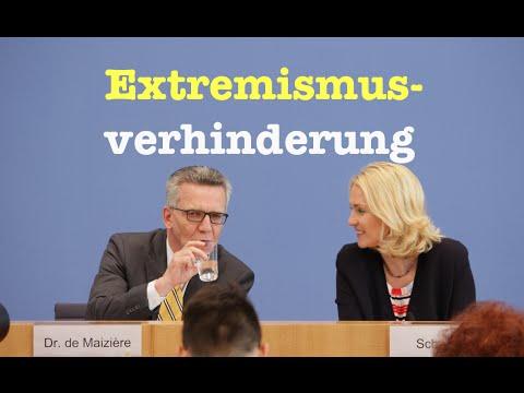 Extremismusprävention mit Thomas de Maizière (CDU) & Manuela Schwesig (SPD) - Komplette BPK