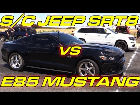 E85 Mustang vs Supercharged Jeep SRT8