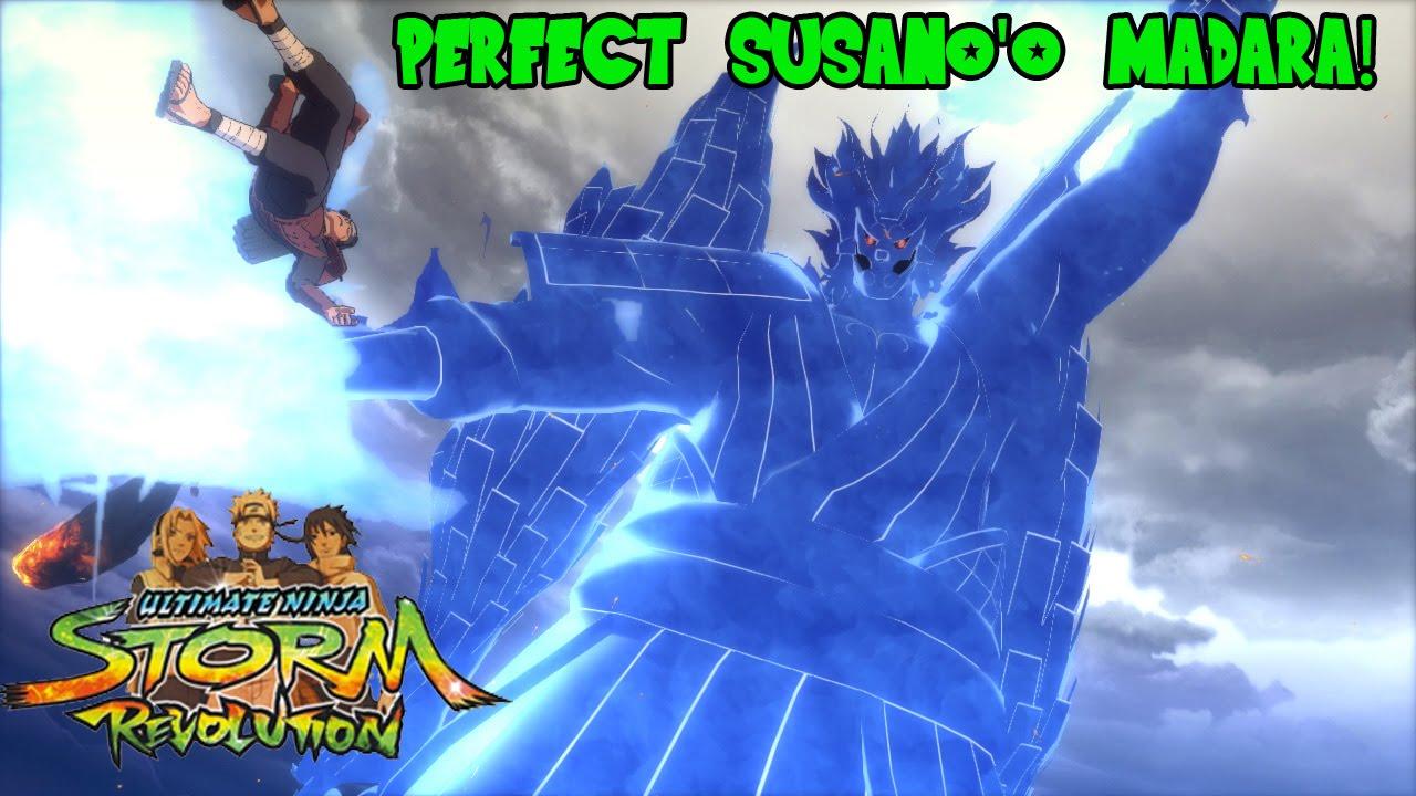 Bijuu Mode Vs Susanoo Naruto Shippude...