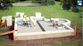 Строим коттедж из газобетона - загородный дом с нуля(, 2013-05-20T19:38:18.000Z)