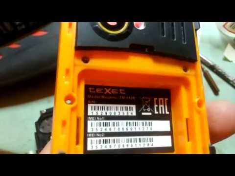 Видеоотчет по ремонту телефона Texet TM-512R нет сети, не видит сим-карту! Часть 1