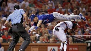 Blue Jays Hitter Chris Coghlan Channels SUPERMAN for Home Plate Dive
