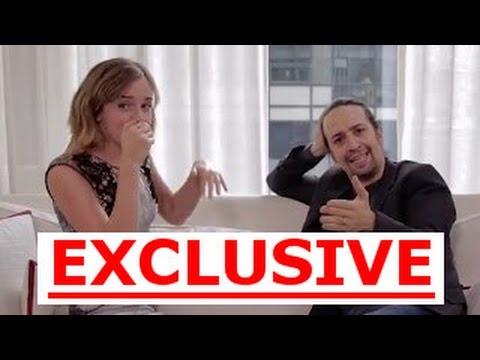 Lin-Manuel Miranda & Emma Watson INTERVIEW Beatbox & Rap - PART 1