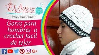 GORRO PARA HOMBRE ADULTOS FACIL Y RAPIDO DE TEJER  VIDEO TUTORIAL
